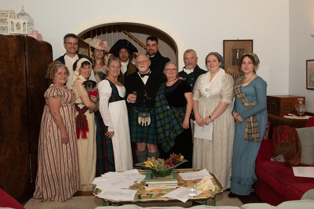 Burns Supper 2019 Scottish history Houston area Regency society scotland haggis