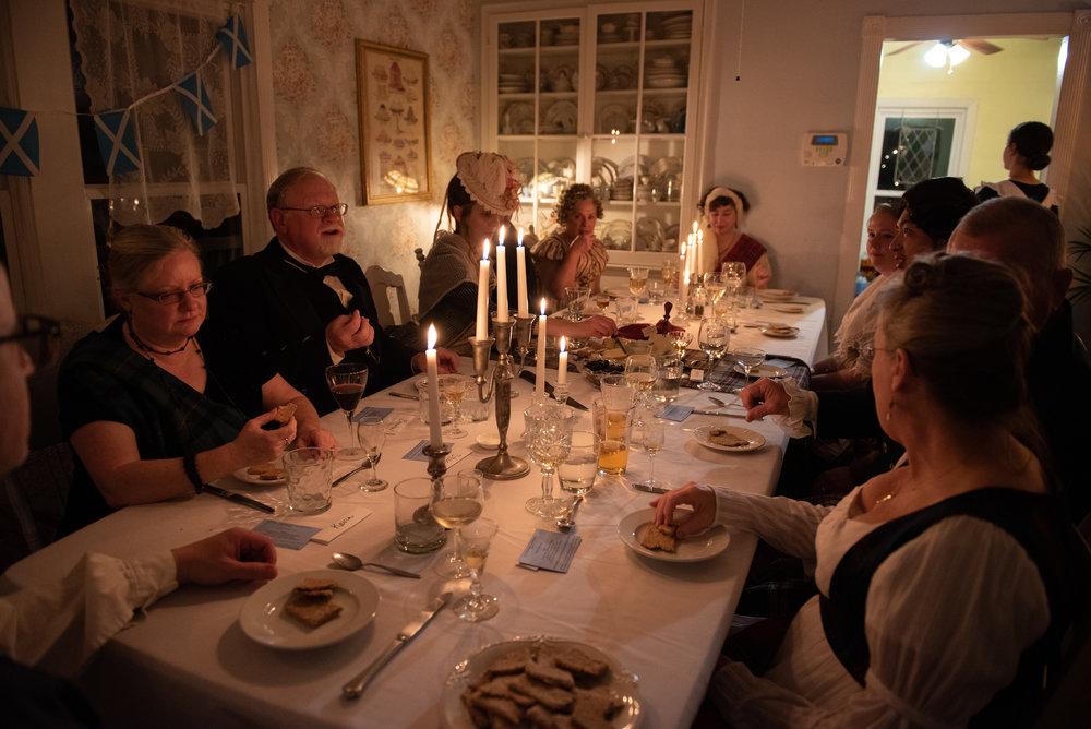Robert Burns Night Supper 2019 Scottish Scotland bagpipe music history Regency Era