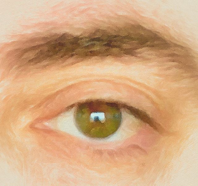 "My ""Lover's Eye"" my hubby digitally painted for me today. #historytalk it was common to receive jewelry with your hotties eye staring at you in the #1800s #1800 #regency era. A little secret something for those discrete love affairs. #valentines #creepyvalentine #janeaustenstuff"