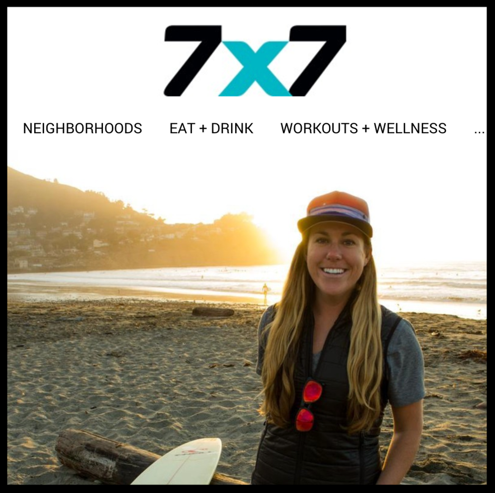 """""""Marin native Sinead Kennedy has taught shark diving, worked with Malala Yousafzai, and run the country's biggest food truck gathering—and somehow she still finds time to surf."""" - - 7x7, CA lifestyle and culture publication."""