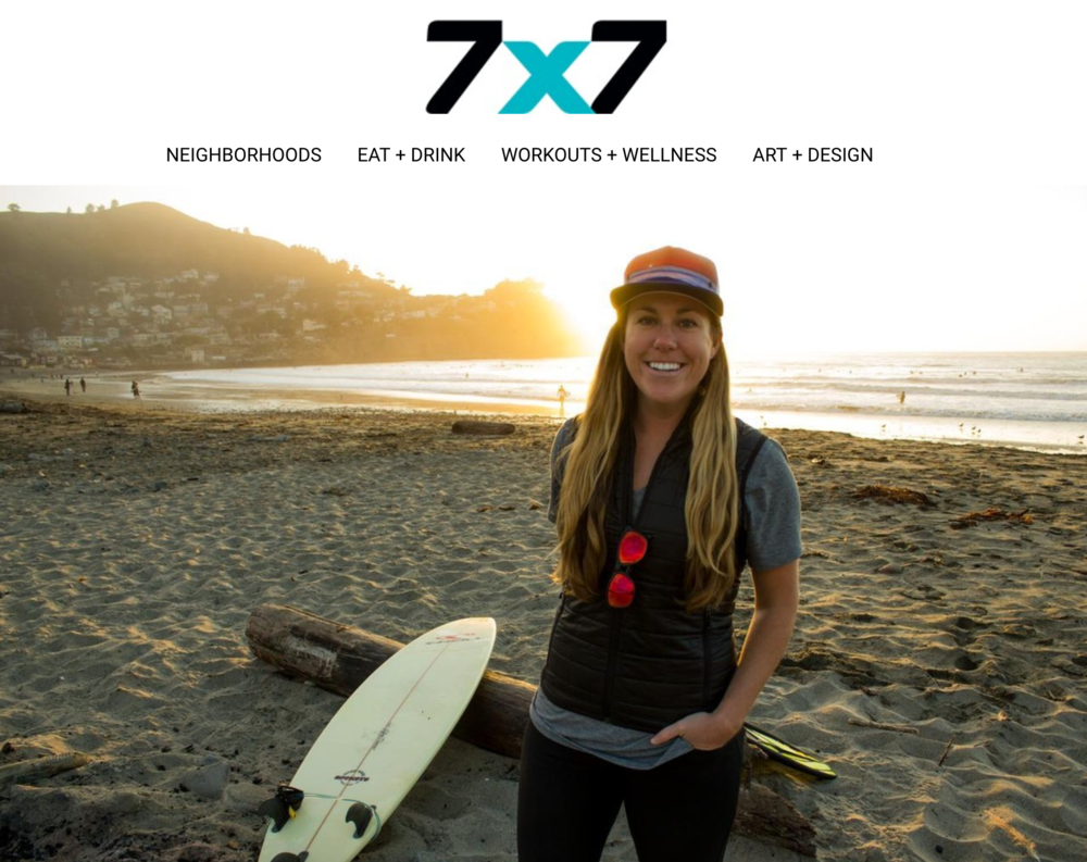 """Marin native Sinead Kennedy has taught shark diving, worked with Malala Yousafzai, and run the country's biggest food truck gathering—and somehow she still finds time to surf."" - 7x7: California lifestyle and culture publication"