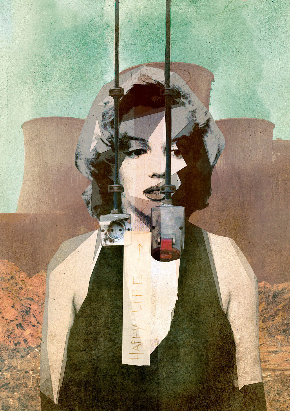 Marilyn's Party , digital collage by Sander Steins (The Netherlands) - Exclusive to Statement Art