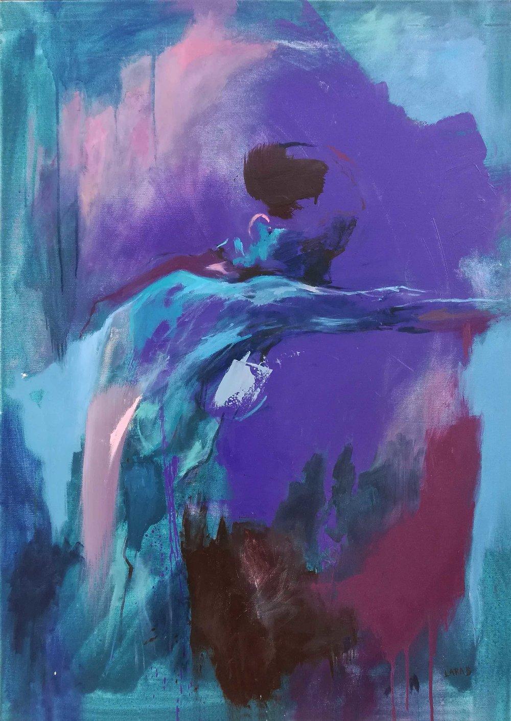 Counterbalance,  oil painting by Lara Sophie Benjamin (Cyprus)
