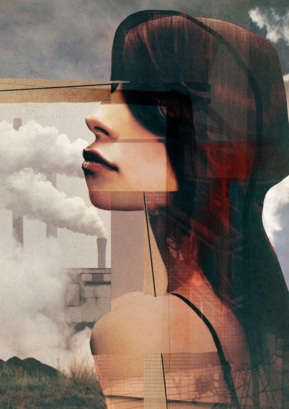 Blind System , digital collage by Sander Steins (The Netherlands) - Exclusive to Statement Art
