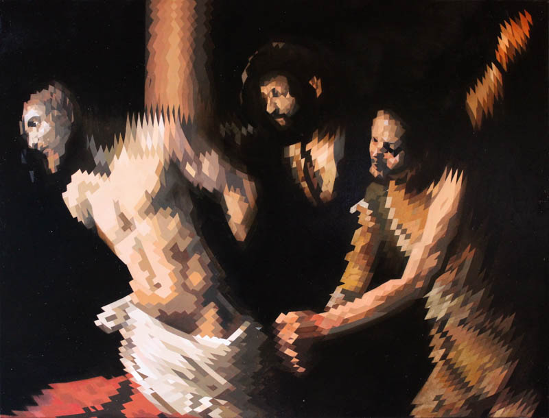 Christ at the column (after Caravaggio)  - Oil on canvas - 100 x 76cm - £7500