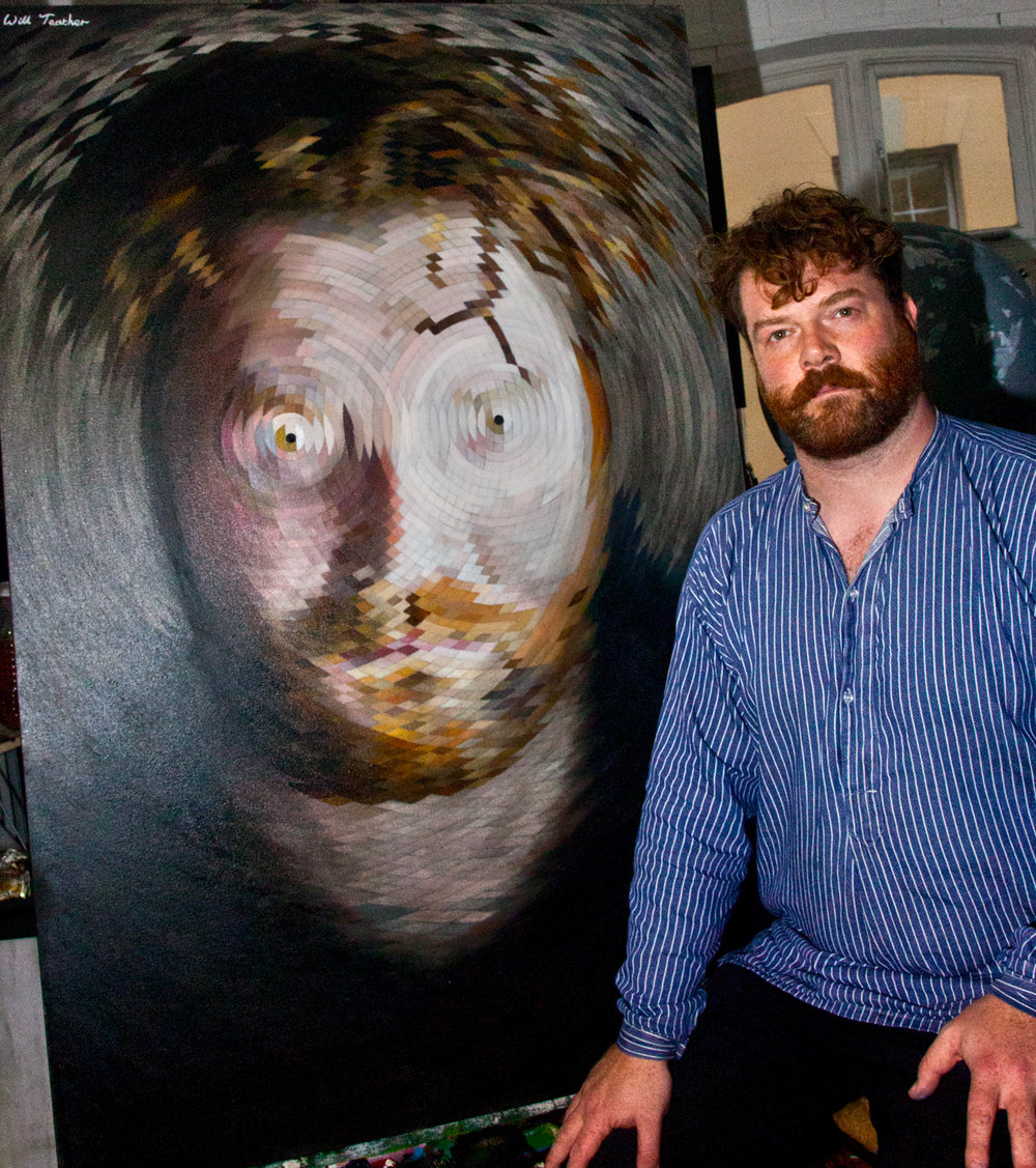 Will Teather with his Radial Portrait in his studio at Muspole Workshops, Norwich.jpg