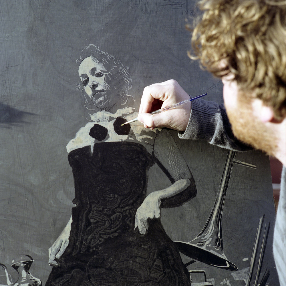 Will Teather working on a portrait.jpg