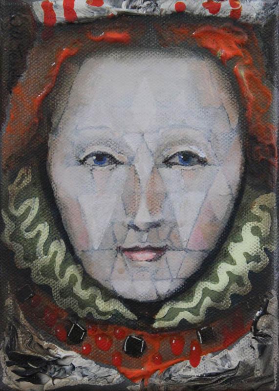 Elizabeth 1st  - Oil on canvas - 12.5 x 17.5cm - £325