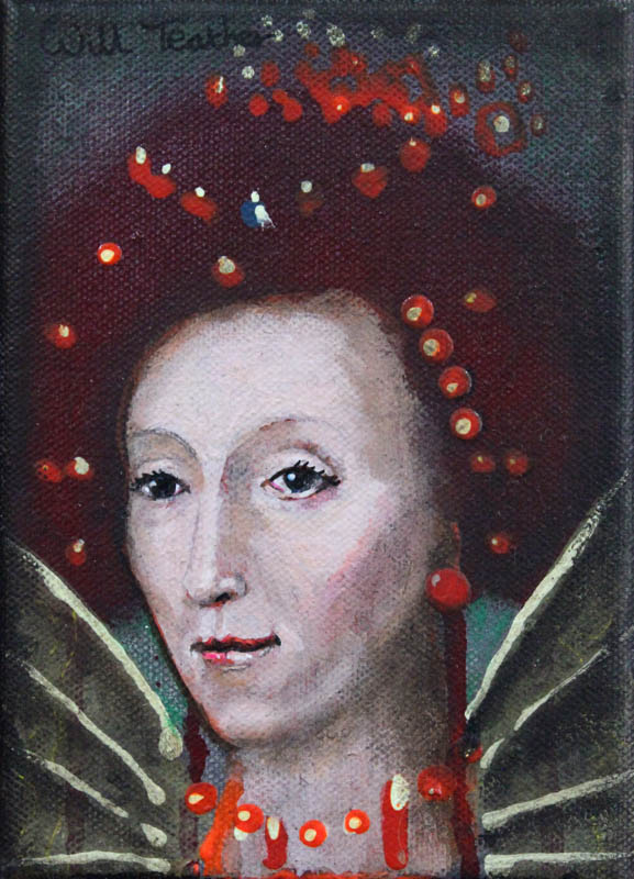 Elizabeth 1st (after the British School)  - Oil on canvas - 12.5 x 17.5cm - £295