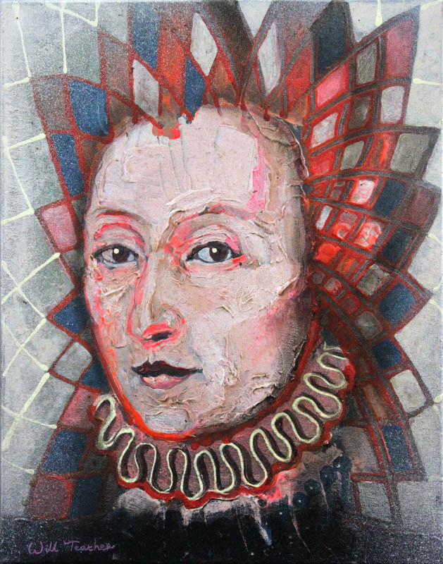 Elizabeth I (after Gheeraerts)  - Oil on canvas - 28 x 35.5cm - £400
