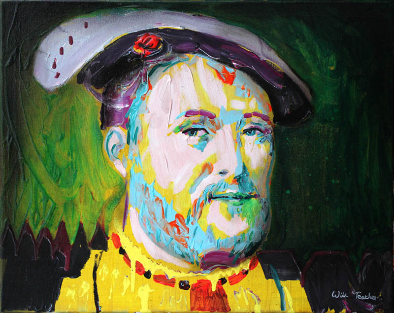 Henry VIII (after Van Cleve)  - Oil on canvas - 40.5 x 51cm- £575