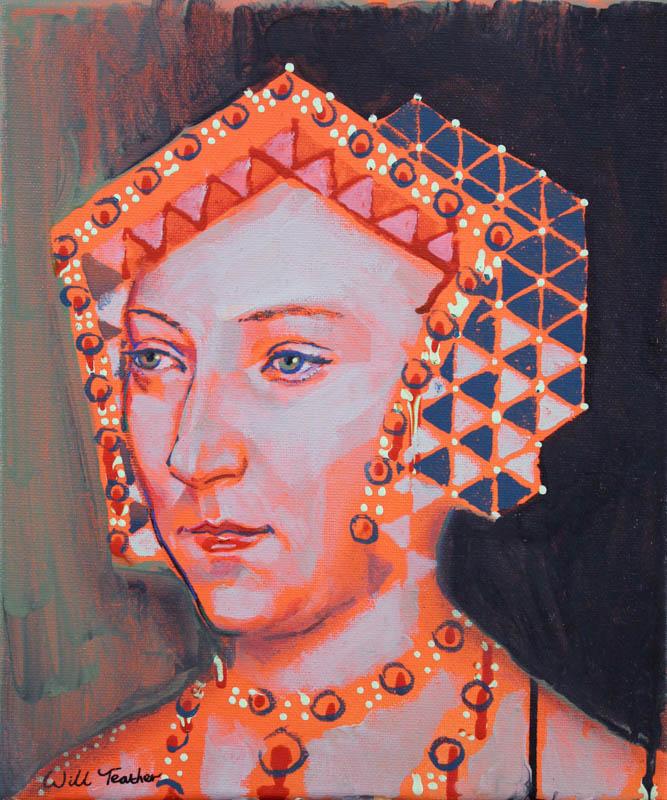 Jane Seymour (after Holbien)  - Acrylic on canvas - 30 x 25cm - £485