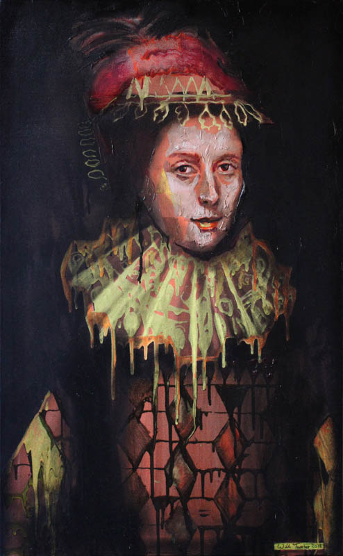 Margaret Layton (after Gheeraerts)  - Oil on canvas - 60 x 97cm - £2500
