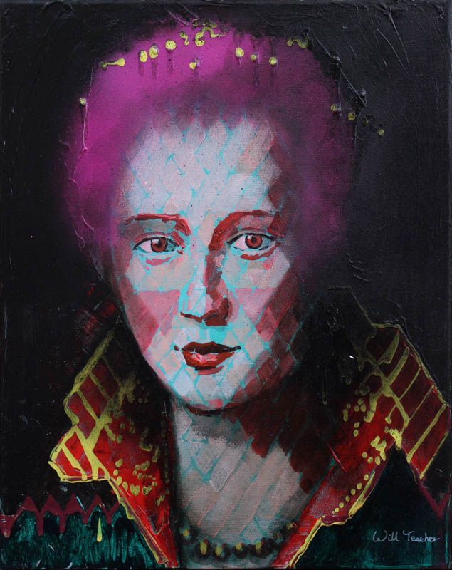 Maria de' Medici (after Allori)  - Oil on canvas - 40.5 x 51cm - £575