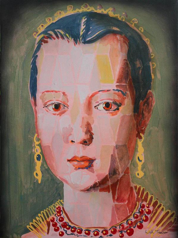Maria de'Medici (after Bronzini)  - Oil on canvas - 45.6 x 61cm - £695