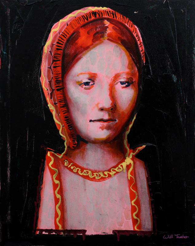 Mary Tudor (after Sittow)  - Oil on canvas - 40.5 x 51cm - £675