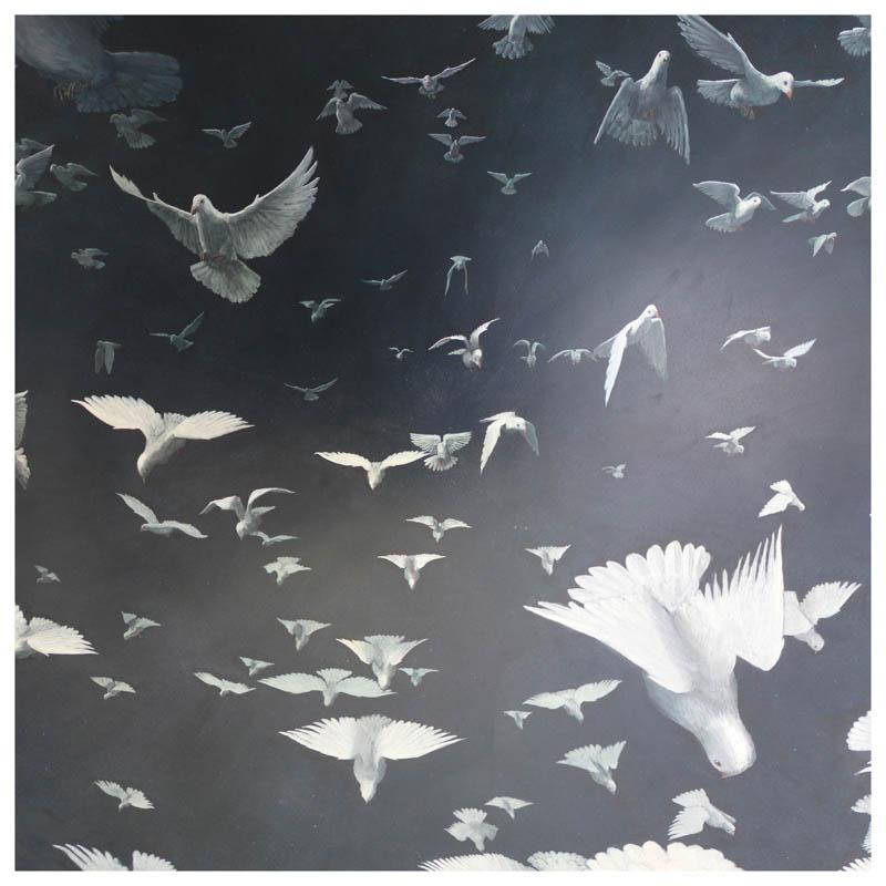 Flock  - Signed Limited edition print - 60x60cm - £300 framed