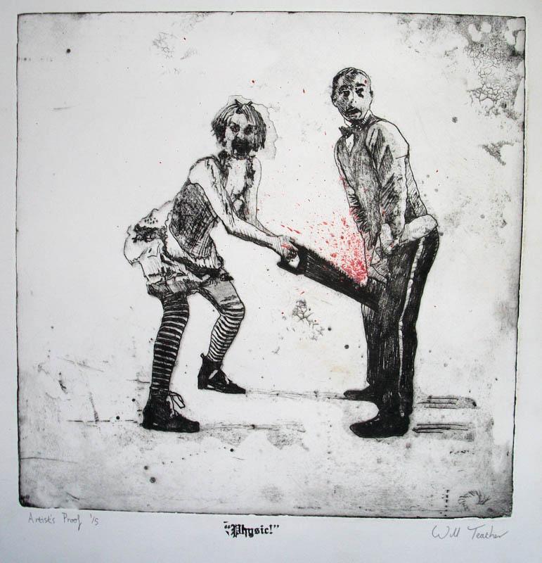 Physic!  - Etching - 30 x 35cm - £275 framed