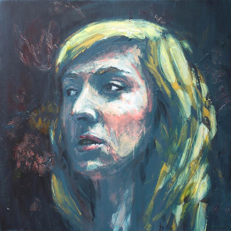 Autumn study  - Acrylic - 100 x 100cm - £1500