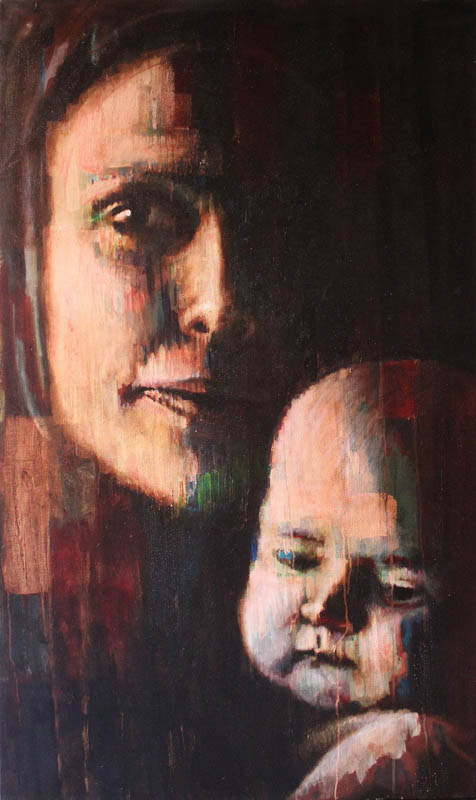 Maternity  - Oil and acrylic on canvas - 100 x 167cm - £5750