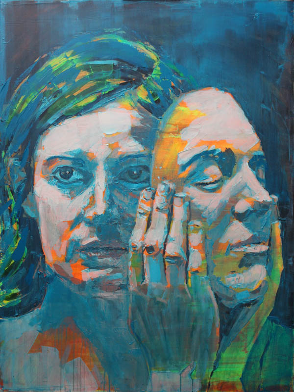 See Her Faces Unfurl  - Acrylic on canvas - 121 x 95cm approx - £2500