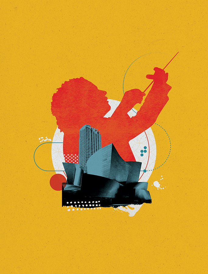 Barbican Centre - LA Philharmonic Illustration
