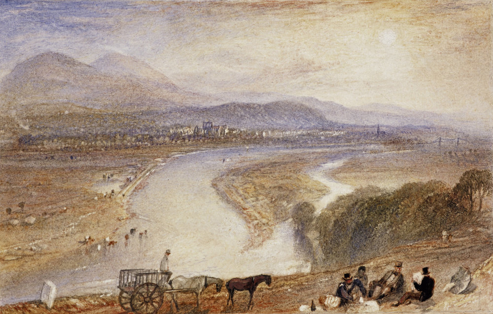 Joseph Mallord William Turner |  Melrose  (1831) | Watercolour with scraping on paper | More  here