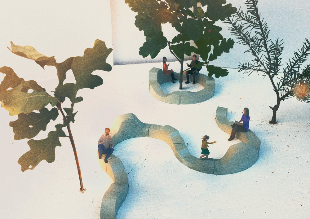 Spotti  by Tony Yau and Janne Pärssinen. This is our winning entry to the 2018 Habitare Design competition. The concept is to create a place that allows for free and unrestricted usage. The unconventional shape and material choice make this place inviting for various activities.  learn more