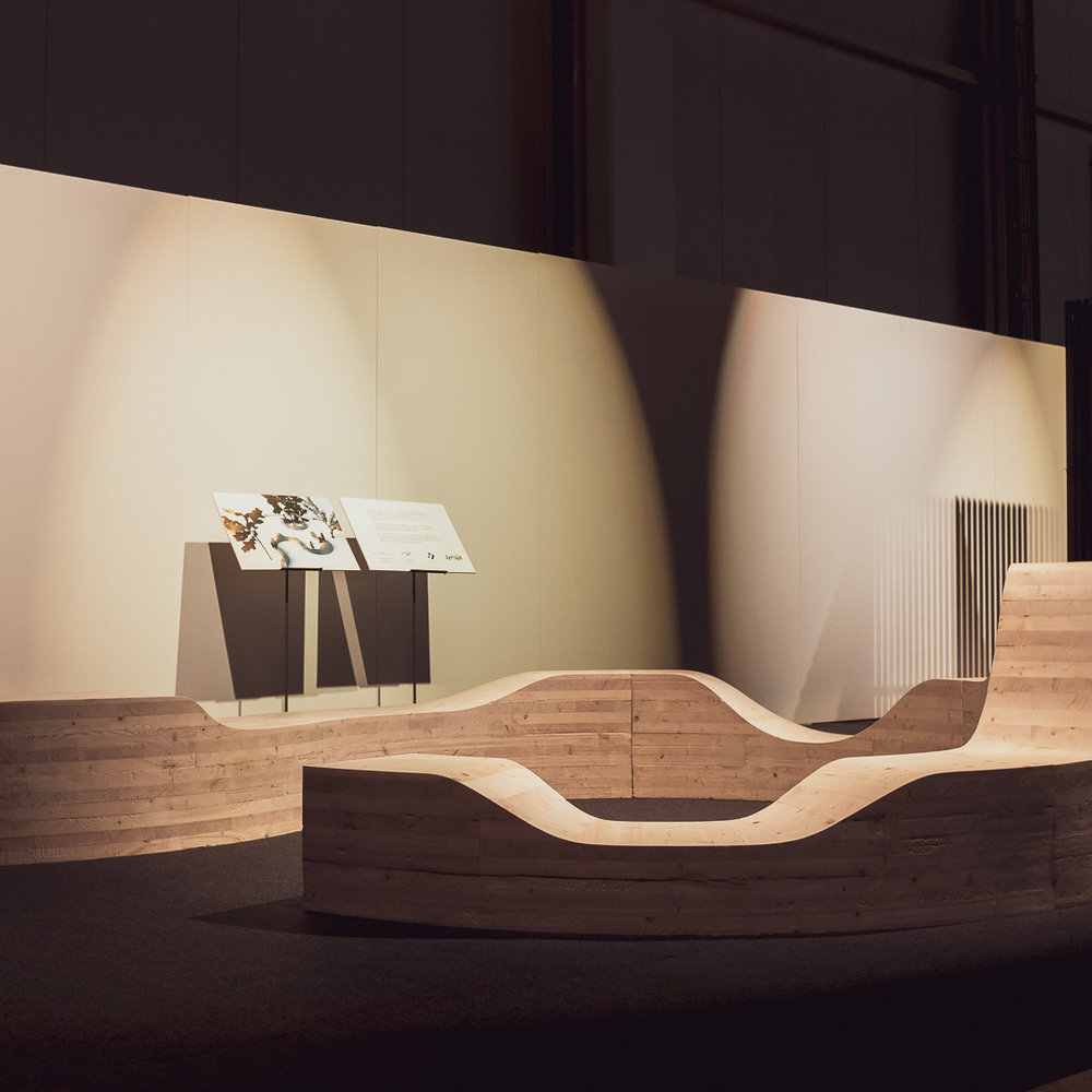 Spotti displayed at Habitare 2018. It was the winner of the Habitare Design competition chosen by Petra Blaisse.