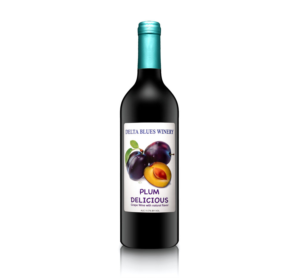 Plum Delicious   Our plum wine is luscious, full bodied and fruity.   Think of as a dessert in a glass.