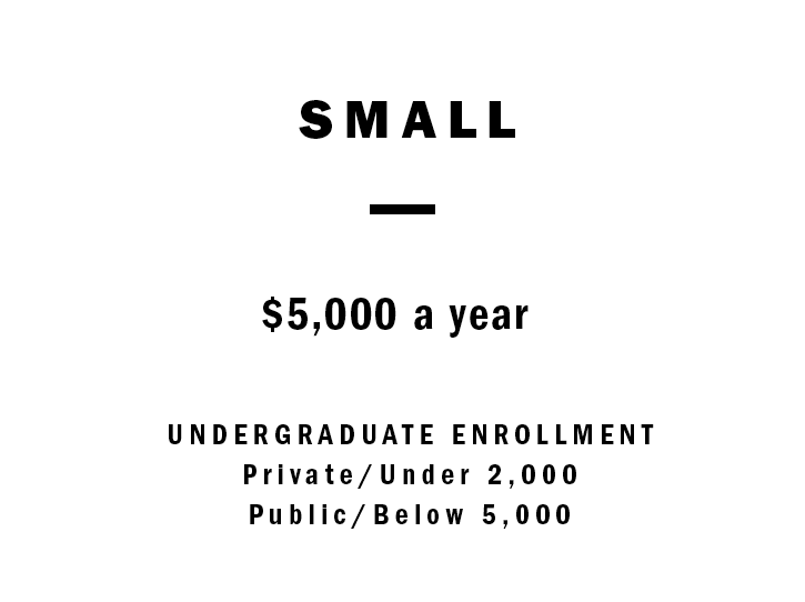 Undergraduate Enrollment  Private/Under 2,000 Public/Below 5,000