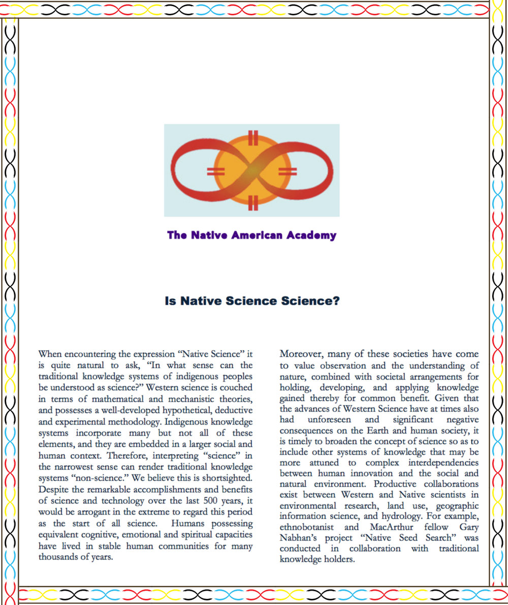 2014 - Is Native Science Science