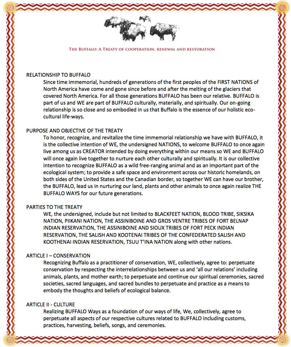 2014 - The Buffalo Treaty