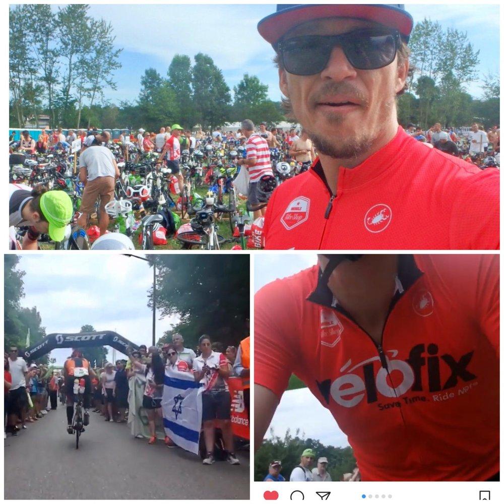 Simon, aka Collins Cup International Team Captain & Videographer. Challenge Roth relay. Bike Leg. Half of it.