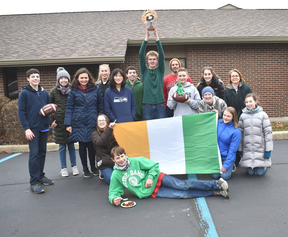 HOUSE OF PATRICK - Winners of the Turkey Bowl Football game!
