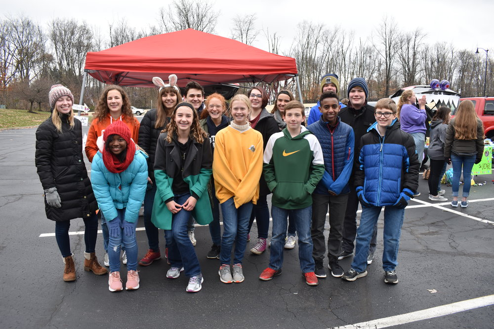 House of David at the annual turkey bowl and tailgate. They won the tailgate competition with the most creative display and best food!