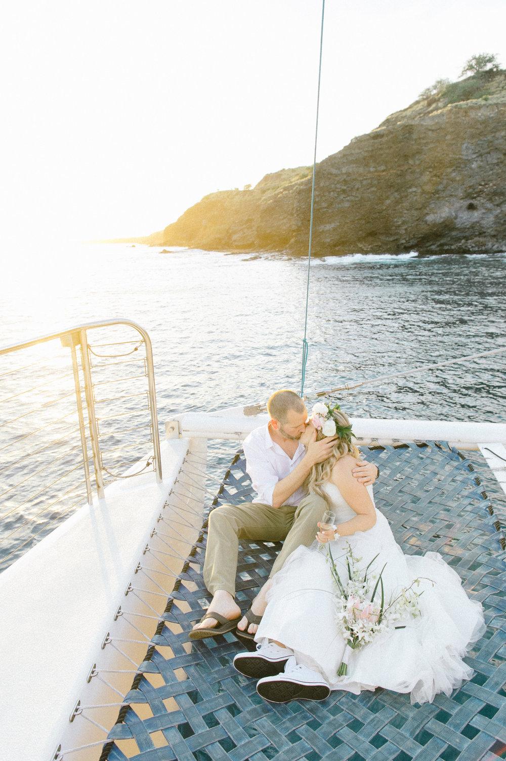 Maui Catamaran Wedding