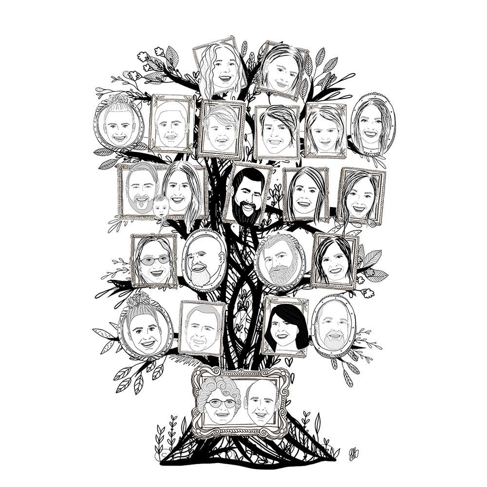 FAMILY TREE ILLUSTRATIONS