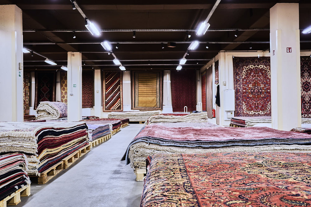 FULL ASSORTMENT - From extremely fine designed Persian city rugs such as Isfahan, Tabriz or Nain, to colorful tribal rugs such as Gashghai, Gabbeh, Loribaf or Afshar, or flatweaves such as Kelim or Sumak, our aim is to fulfill any wish or need with our full assortment. Through our valuable, well established and long lasting supplier relations based all over Iran, we hold the possibility to react to any restock planning in a short time span.