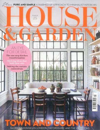 House and Garden, March 2019 - Garden Design we did with Stuart Craine for our Client's house in North London.