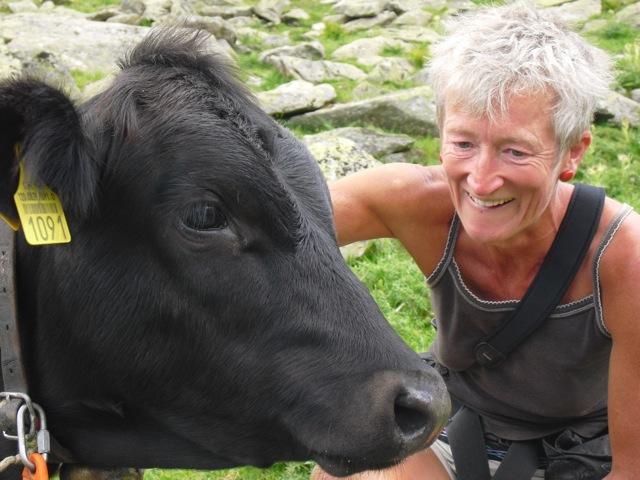 Ute Lohmeyer als Rinderhüterin im Sommer 2011 (Quelle:  talkreich.com )