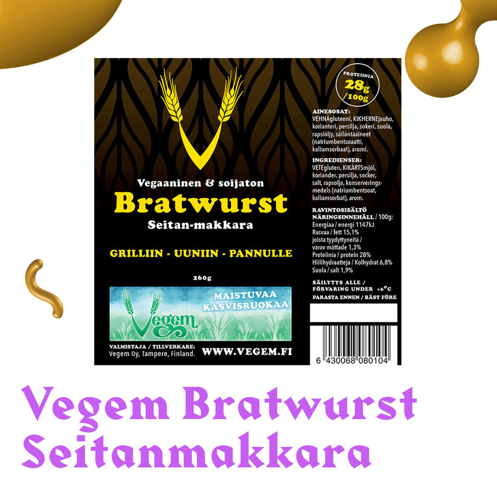 Vegem Bratwurst Seitanmakkara.jpg