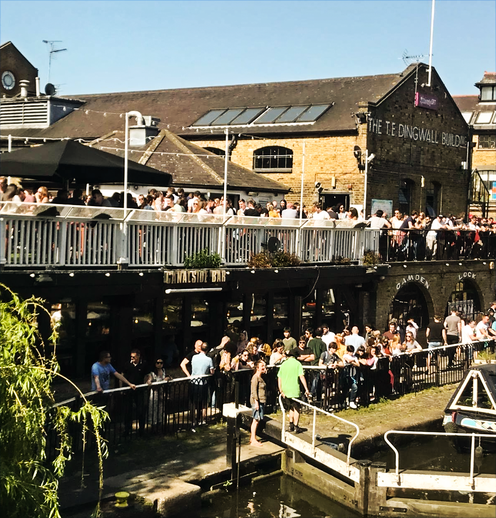 THE TERRACE   Offering iconic views of the canal and centre of Camden, the terrace is the perfect place to enjoy some sunshine.