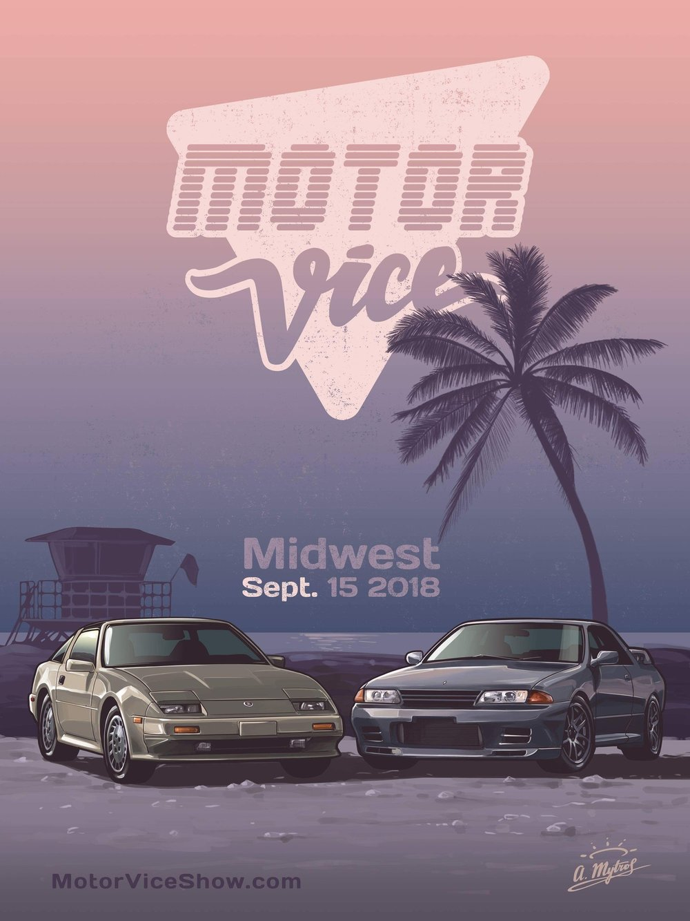 MotorVice Z31/R32 print   Righteous Print featuring two turbo titans of the MotorVice era   $22