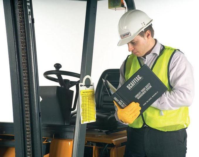 Forklift safety inspection