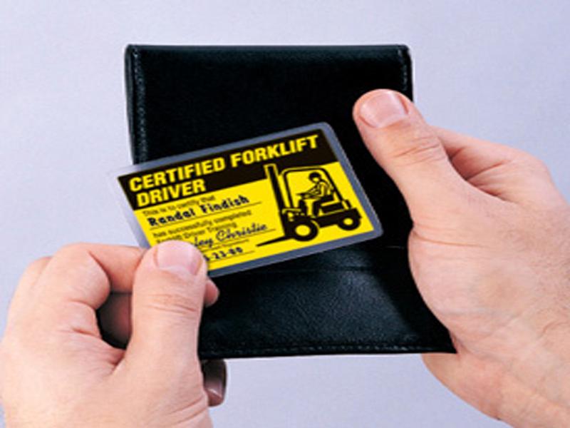 Forklift training certificate