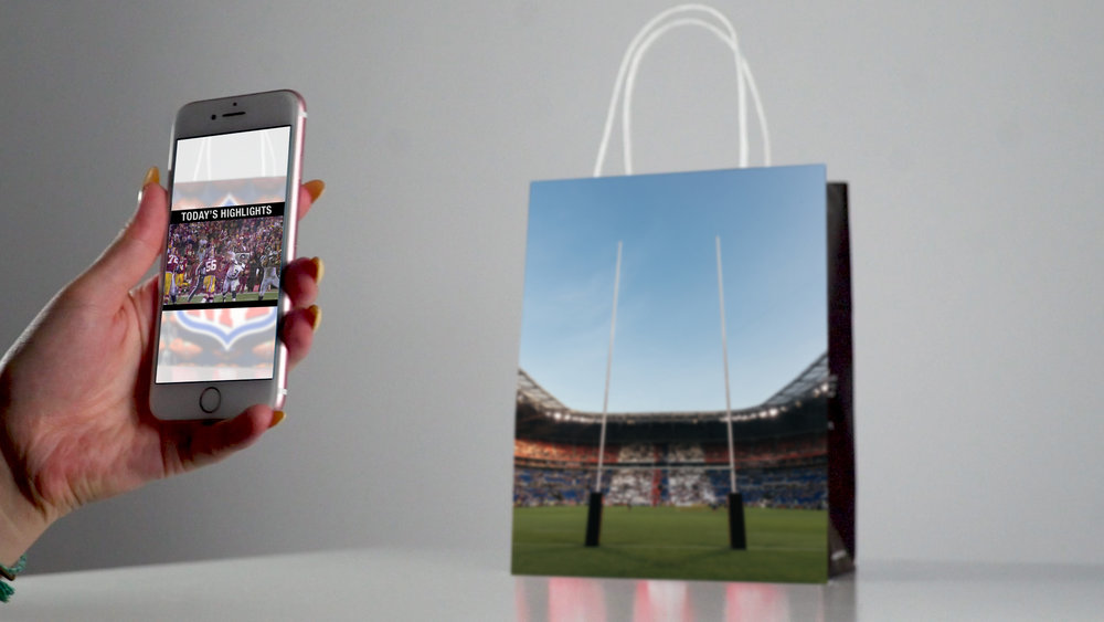 A new creative canvas - The relationship between our physical bag and our digital app unlocks all kinds of interactive features and creative executions that can be updated in an instant. Your bag creative can be linked to a product page one day and an augmented reality experience the next.