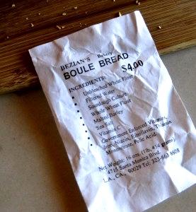 Bezian's Bakery Boule Bread Ingredients
