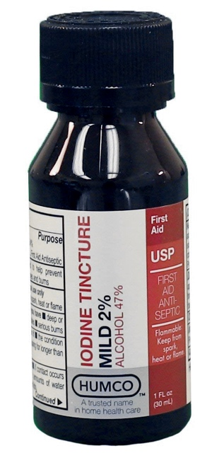 This topical iodine is similar to the one I used.