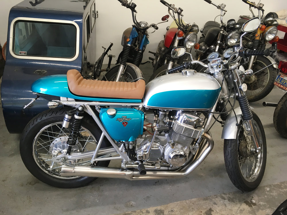 cb 750 - 1972 teal & silver